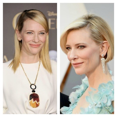 Cate Blanchett always looks stunning, but having short hair accentuates her flawless skin.