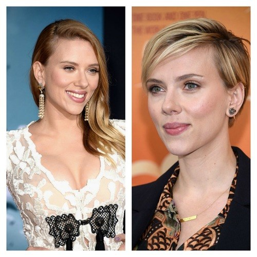 Scarlett Johansson's shorter hair makes her look super-sophisticated and polished.