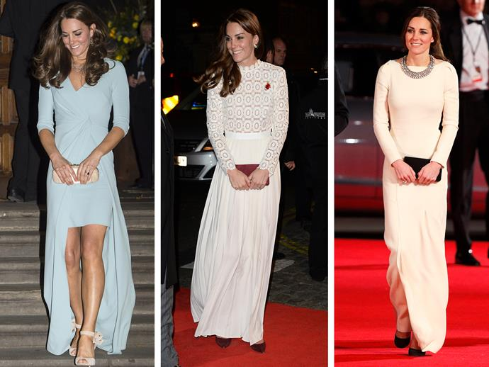 **Culprit:** Duchess Catherine. **Guilty of:** The clutch with grace and poise. Kate is a princess through and through... she even makes a red carpet seem like a regal affair.