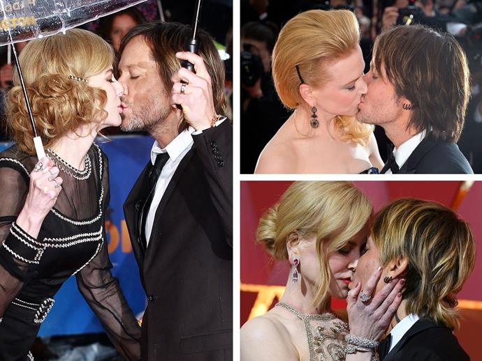 **Culprit:** Nicole Kidman and Keith Urban take 2 **Guilty of:** The passionate kiss. See?! The nuzzle isn't the only pose they've perfected.
