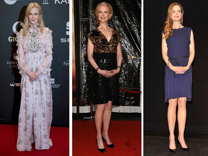**Culprit:** Nicole Kidman **Guilty of:** The clasp When she doesn't [have hubby and fellow red carpet pranster Keith by her side](http://www.nowtolove.com.au/celebrity/celeb-news/nicole-kidman-and-keith-urbans-red-carpet-pda-5260), Nicole isn't quite sure what to do so opts for a composed clasp of the hands.