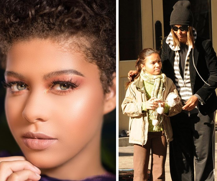 "While the 63-year-old rarely shares photos of her daughter, many fans believe that the proud mama got her daughter to front one of her campaigns for her make up brand, Iman Cosmetics. Posting this photo on both her personal and work Instagram, Iman didn't mention any names but those dazzling blue eyes scream ""David Bowie!"""