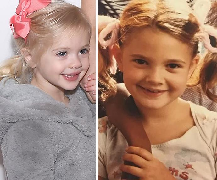 Drew was just seven when she starred in her godfather's movie.