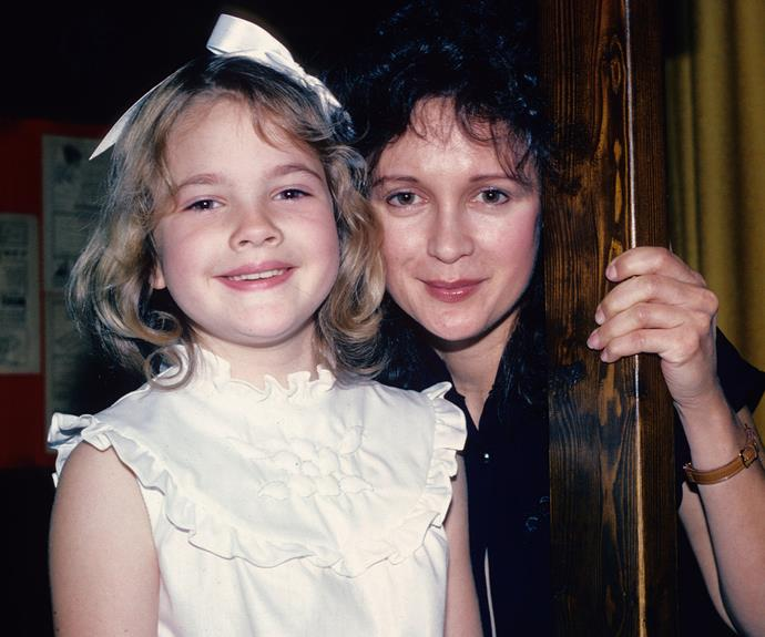 Drew recalls her mum Jaid [pictured] taking her clubbing to Studio 54 when she was just 9 years old.