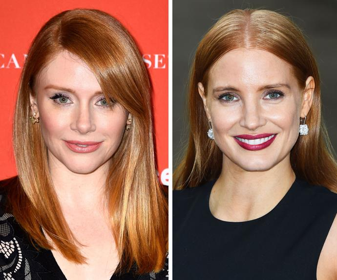 Bryce Dallas Howard and Jessica Chastain starred alongside each other in *The Help* in 2011, and it's a wonder no one got them completely confused (although Jessica's platinum-blonde do in that flick certainly helped).