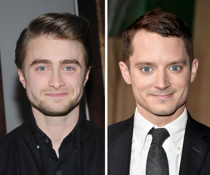 """Who knew Harry Potter and Frodo Baggins would end up looking the same? Daniel Radcliffe says that he has even signed autograph as """"not Elijah Wood"""" in the video on the next slide."""