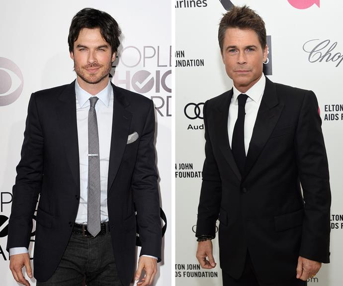 With their piercing blue eyes and chiselled jaw lines, *The Vampire Diaries* star Ian Somerhalder and *Parks and Recreation* star Rob Lowe could be the same beautiful man.