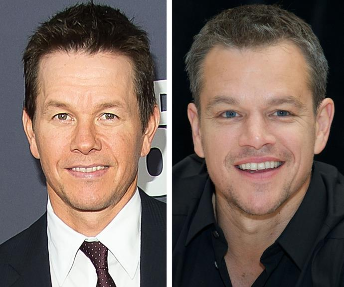 Mark Wahlberg and Matt Damon could pass as brothers - in fact, the pair have even joked about forming a pact with each other where they play along if they're mistakenly spotted by a fan of the other's!