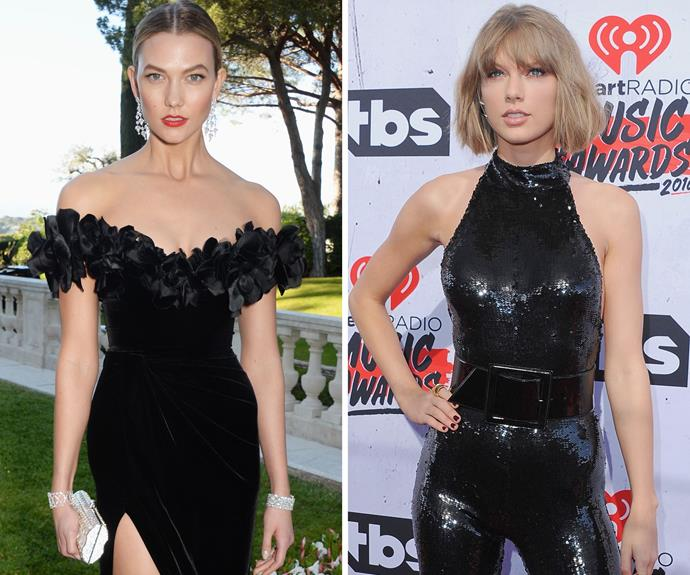 BFFs Karlie Kloss and Taylor Swift both share plenty of things in common - endless pins, trim and toned physiques and short blonde hair. It's no wonder they're so close!