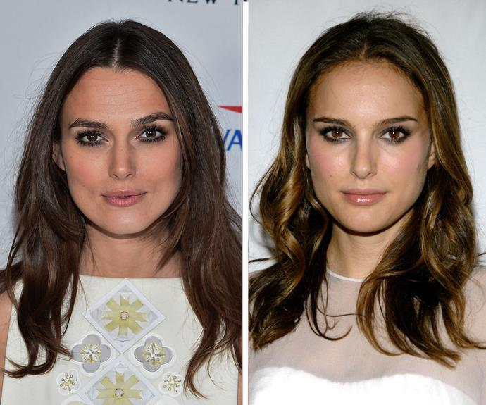 Keira Knightley actually played Natalie Portman's double in *Star Wars Episode I: The Phantom Menace* because of how similar the two looked. The two gorgeous brunettes also look quite a bit like one of Old Hollywood's most famous stars - Audrey Hepburn!