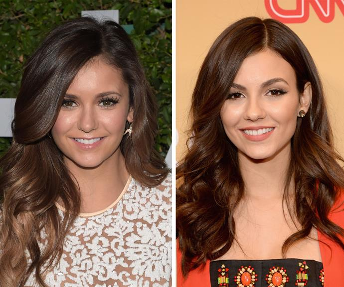 Looks like Ian Somerhalder isn't the only *The Vampire Diaries* star with a doppelgänger - Nina Dobrev and Victoria Justice could be twins!