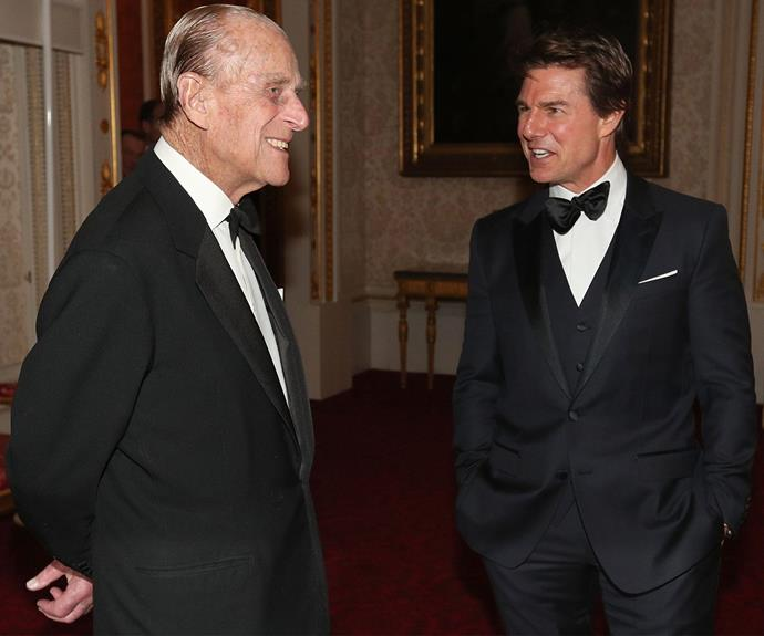 Prince Philip happily hosted the Hollywood actor.