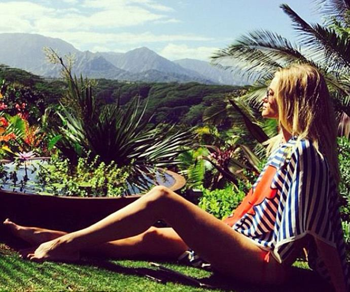 Is it even possible to look more relaxed than Rosie does in Kauai?