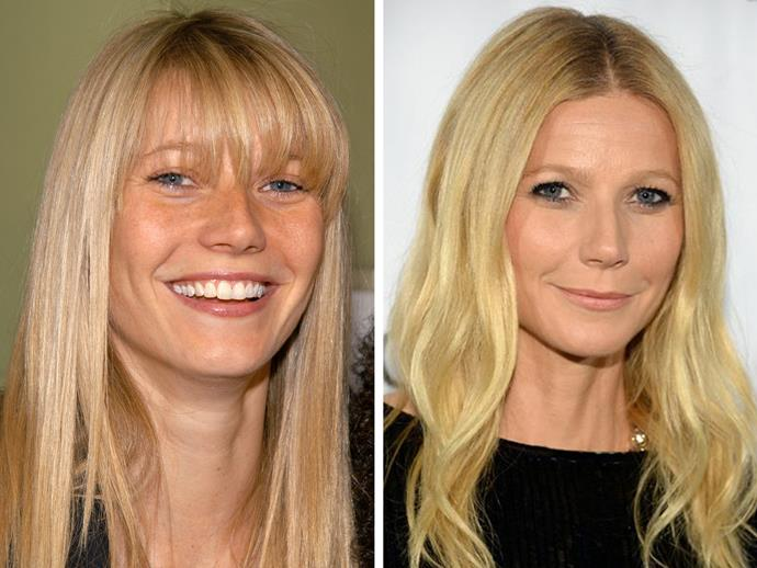 Gwyneth Paltrow has very thin, whispy hair and a fringe is always going to be a struggle - as anyone with this hair type would agree. She's stunning no matter what she does with her hair but if we had to chose it would be no-fringe for the win.