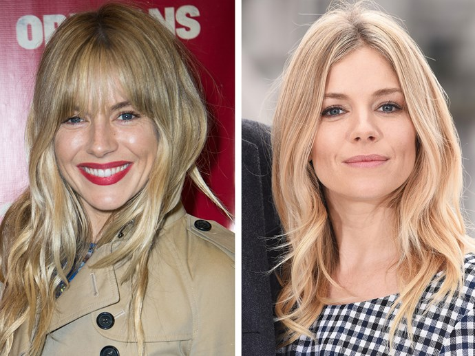 Fringes can also make you look youthful (we're talking cute here), as proven by Sienna Miller.