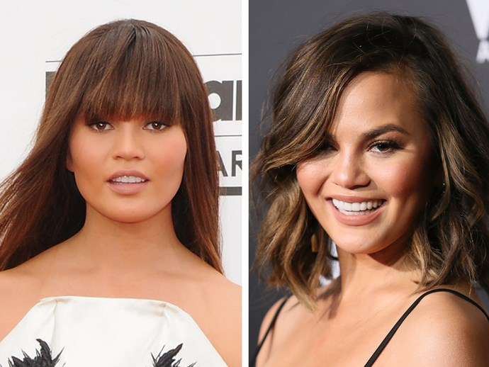 Who's that girl?! Chrissy Teigen looks like a doll with her blunt-cut fringe and sleek hair. It's almost *too* sensible for this slightly kooky gal.