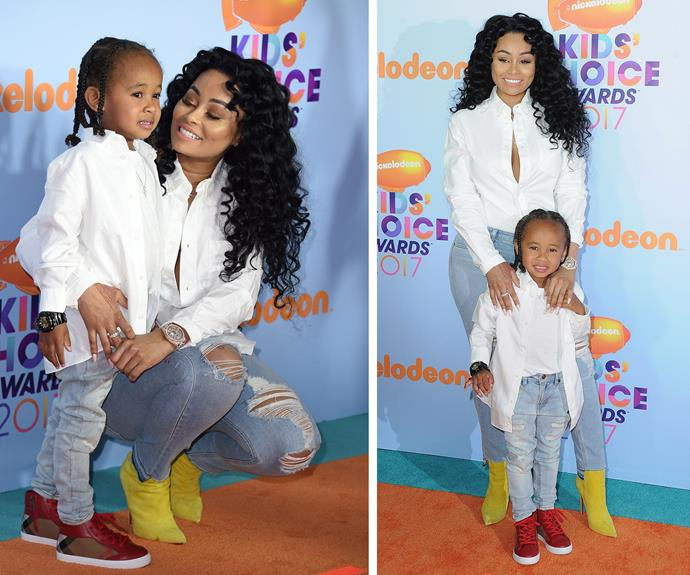 Blac Chyna no doubt left newborn baby girl Dream with dad Rob Kardashian for a mummy-son night out with son King Cairo, four.