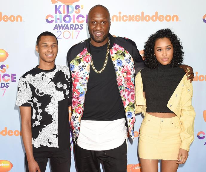 """Lamar Odom put family first after a [turbulent few years](http://www.nowtolove.com.au/celebrity/celeb-news/lamar-odoms-tragic-downward-spiral-28729