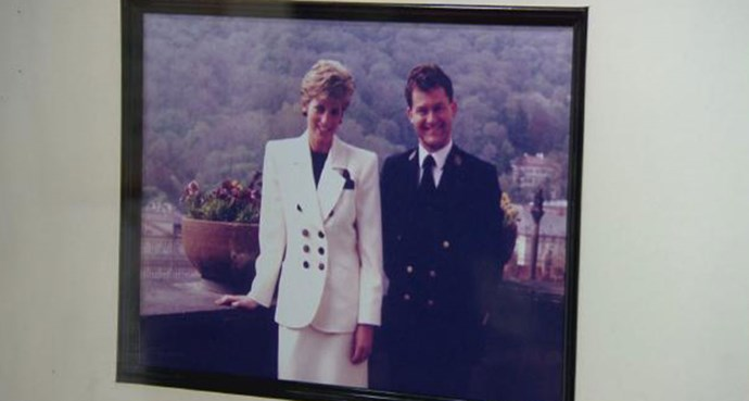 Paul with the late Princess Diana.
