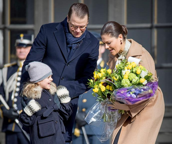Crown Princess Victoria of Sweden celebrated her name day, an European tradition marking the day of a saint after whom a person is named after. She was joined by her husband, Prince Daniel, and their two children, Princess Estelle, five, and one-year-old Prince Oscar.