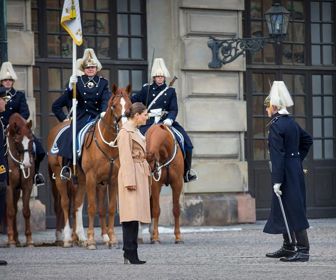 Salute! Hundreds went to the palace to be part of celebrations of the Crown Princess.