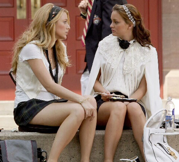 **1. Gossip Girl** Blair and Serena showcase the life of teenage New York socialites who can battle any scandal with the help of retail therapy and holidays in the most glamorous places around the world.