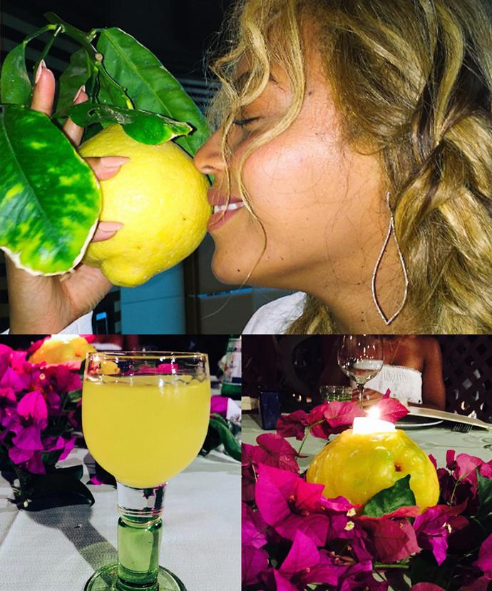 Blue Ivy's mum also made a point to drop three consecutive lemon-related hints before the release of her album *Lemonade* last year.