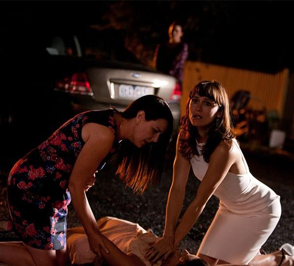 **Nicola (Leah de Niese) in *House Husbands* (2013)** Ratings got a boost as people turned on to see which *House Husbands* character would be killed off. It was Nicola, hit as she crossed the road. Tragically, she left behind three young children to be brought up by Justin (Firass Dirani).