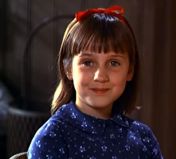 **Mara Wilson** Mara starred in the movie adaptation of Roald Dahl's *Matilda*.