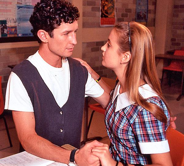 **Steven & Selina (1996):** Summer Bay High seems to have had more than its fair share of inappropriate relationships! This one saw teen student Selina (Tempany Deckert) falling for young teacher Steven (Adam Willits). He tried to resist his attraction, but he ended up giving in to it. They ended the affair, but the story got out, causing a big scandal. Their relationship picked up again later, where they had one failed attempt at a wedding before finally ending up together.