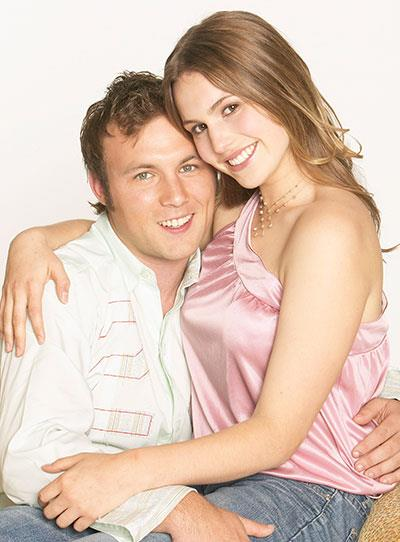 **Kane & Kirsty (2002):** This relationship was so wrong, but fans couldn't get enough. The big scandal was that Kirsty (Christie Hayes) fell for Kane (Sam Atwell), even though he had raped her sister, Dani (Tammin Sursok), just a year earlier! The pair forged a bond when they were lost in the bush together. After that, they couldn't keep away from each other. Despite a few bumps along the road, like Dani running over Kane, the couple ended up married.