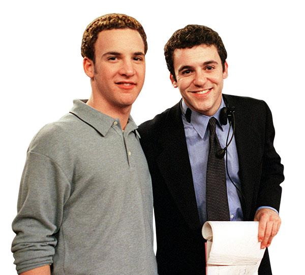 **Fred & Ben Savage**  **BACKGROUND:** Fred and Ben are best known for their roles on TV series *The Wonder Years* and *Boy Meets World* respectively.  Fred is now a director, while Ben stars in reboot series *Girl Meets World*.  **TV SHOWS:** *The Wonder Years* (1990) and *Boy Meets World* (1998).  **TOGETHER:** Ben had a minor role in a Valentine's Day episode in *The Wonder Years*.  Fred meanwhile, starred as cool college teacher Stuart in an episode of *Boy Meets World*.  Fred later went on to direct two episodes of the show.