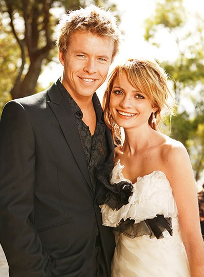 "**Aden & Belle**  Never have the vows ""in sickness and in health"" meant more than on the day of Belle and Aden's wedding.  It was a bittersweet occasion, as Belle (Jessica Tovey) had terminal cancer and wasn't expected to live long.  ""Babe, I'd be a fool not to marry you,"" Aden (Todd Lasance) told Belle.  Jessica tells TV WEEK when she does marry, her own wedding will be slightly different to her on-screen trips down the aisle. ""After wearing so many wedding dresses, I'll probably just get married in shorts and a T-shirt!"" Jessica, 27, says."