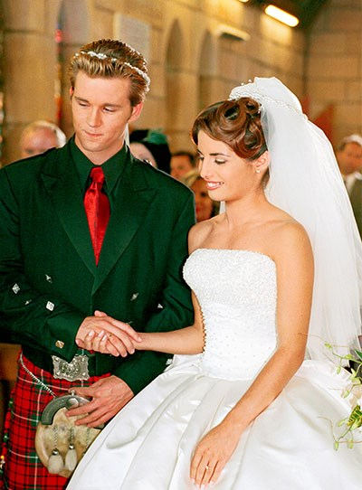 "**Vinnie & Leah**  A whole raft of meddling family members couldn't derail this big day!  Vinnie (Ryan Kwanten) and Leah (Ada Nicodemou) combined their Scottish and Greek heritage for their big church wedding. ""At the time, I hadn't been married before and it was the first time I'd put on a veil,"" Ada, 38, tells TV WEEK.  ""It was lovely – I love a *Home And Away* wedding.""  However, Ada reveals the corset on the wedding dress was very tight!  ""I wore that bloody dress for two weeks and I was all bruised because it was boned,"" she laughingly reveals of what filming the scenes were really like."