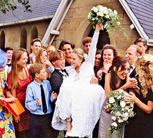 "**Shane & Angel**  One of the most memorable Summer Bay weddings was that of Shane and Angel. Who can forget a wheelchair-bound Angel (Melissa George) rising to her feet to walk down the aisle to meet Shane (Dieter Brummer)? ""You look beautiful,"" Shane told her when she reached him at the altar.  The teen lovers tied the knot only weeks after Alf Stewart (Ray Meagher) hit Angel in his car, leaving her paralysed."
