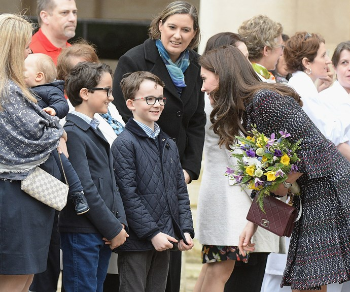 Kate enchanted the local children.