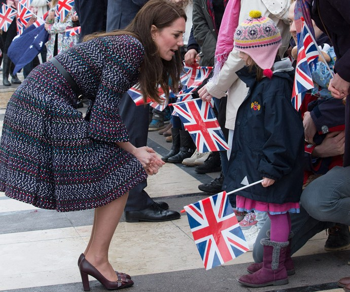 This little girl was so excited to meet a real life royal.