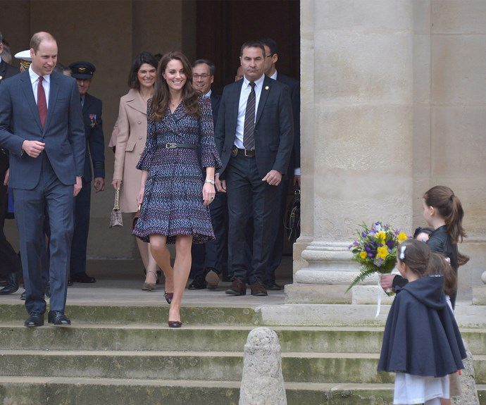 Will and Kate went to the Musée d'Orsay overlooking the Seine.