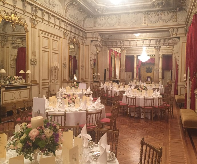 The venue certainly was stunning.