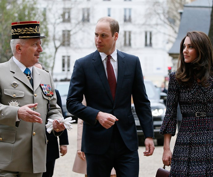 Will and Kate head to Les Invalides, a former Parisian hospital for soldiers that has since been turned into a military museum.