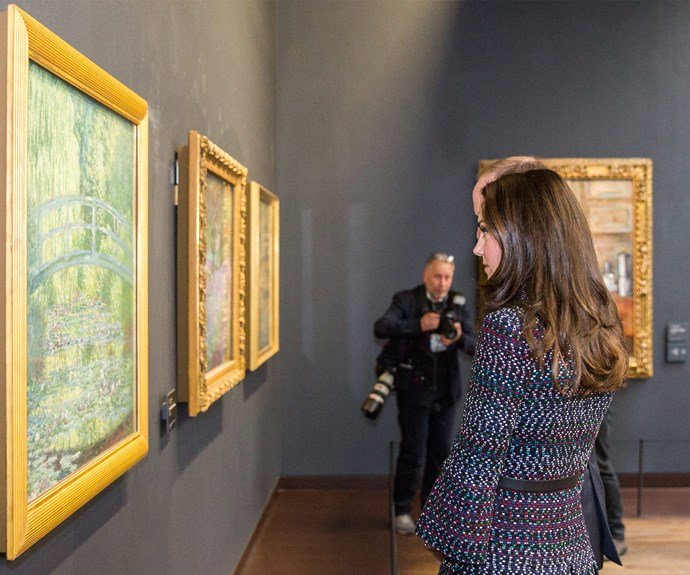 The St Andrews  graduate was immersed in Claude Monet's work.