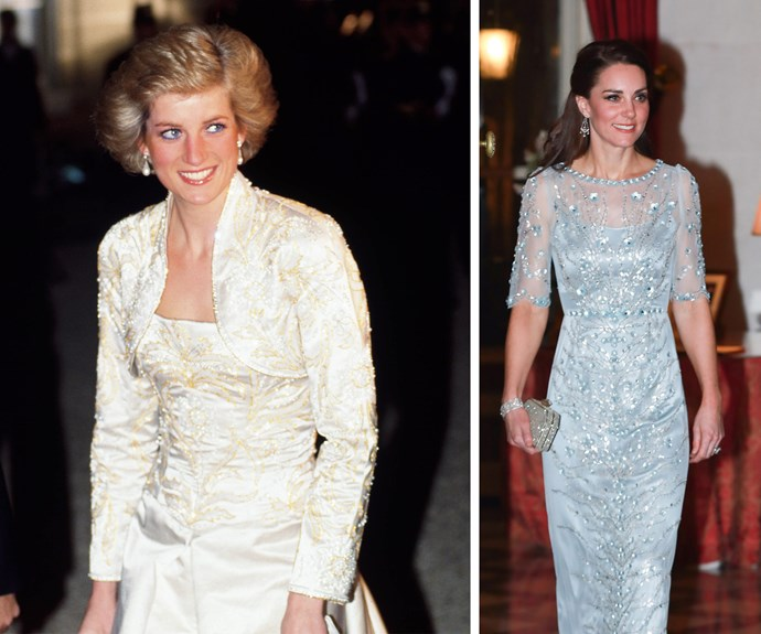 Catherine's gown certainly shares similarities with Princess Diana's breathtaking outfit from her 1988 visit to the French capital.