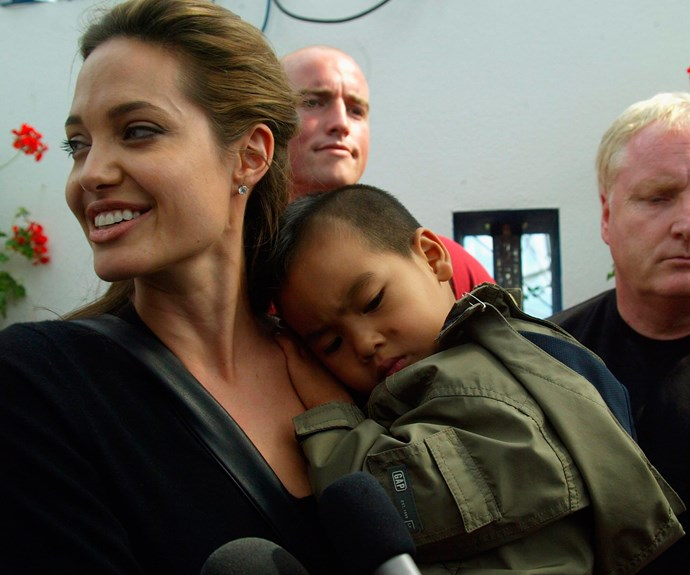Angelina with her son back in 2005.