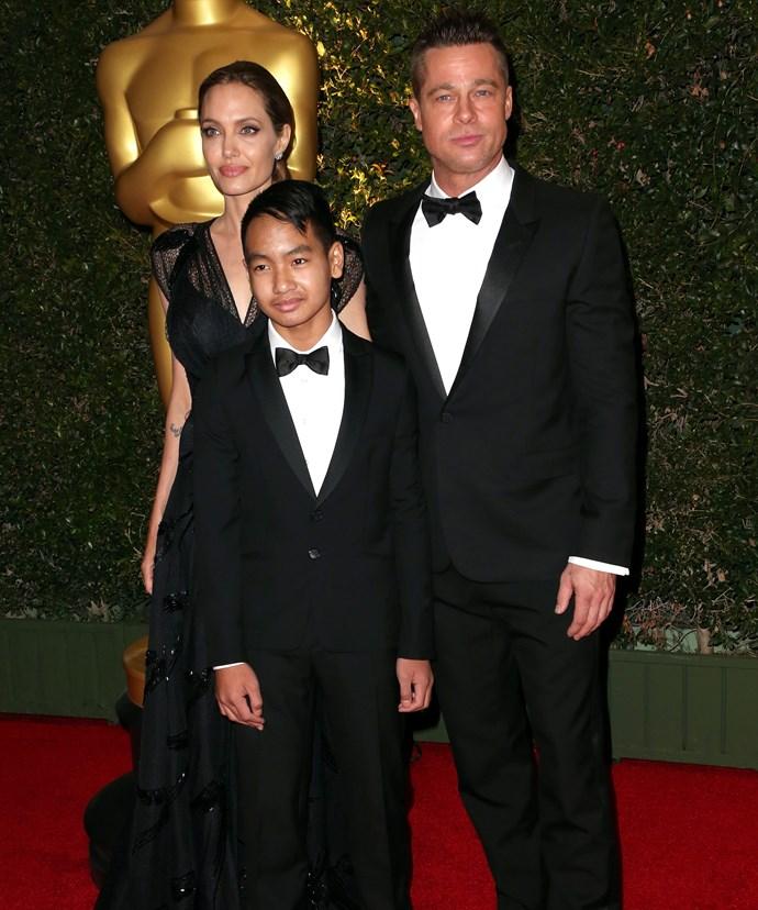 Angelina's ex Brad Pitt adopted Maddox in 2006.