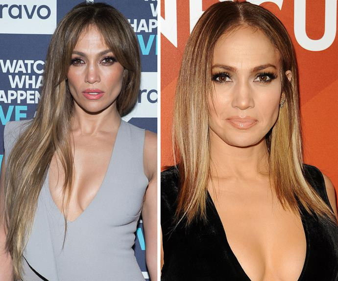 Jennifer Lopez swapped her waist-length locks for a chic, shoulder-grazing chop. We love the lighter colour and choppy ends, which show off her cheekbones.