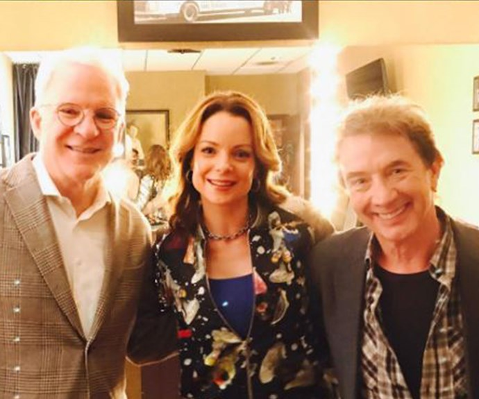 Fast forward to 2017, and the duo recently caught up with their co-star Martin Short.