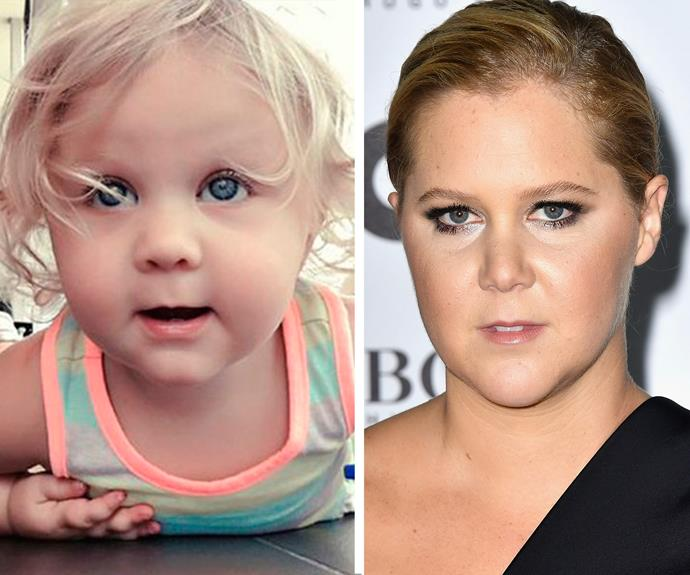 Those eyes! It's like looking into a mirror for this Amy Schumer doppelgänger.