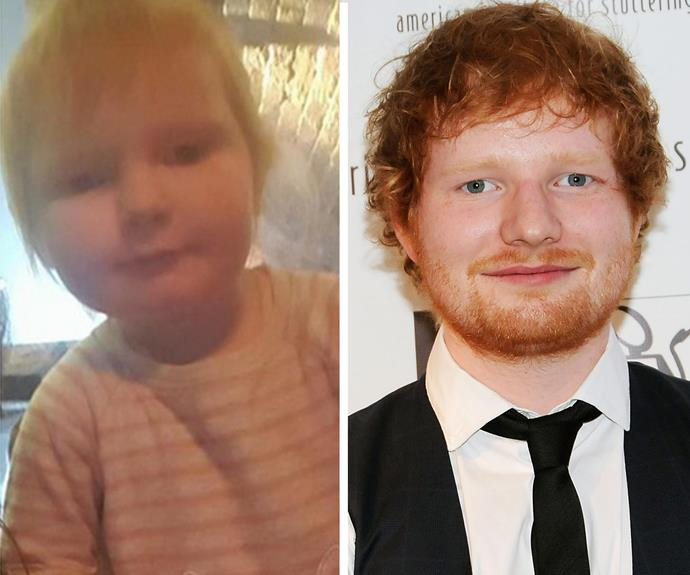 This sweet little ginger could pass as a mini Ed Sheeran.