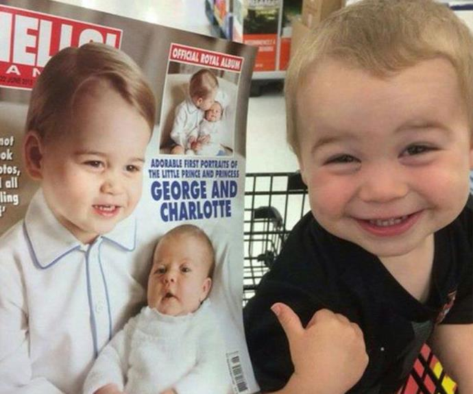 """My godson think he's the Royal Prince,"" a very amused Reddit user shared beside this snap of his relative who is convinced he's Prince George."