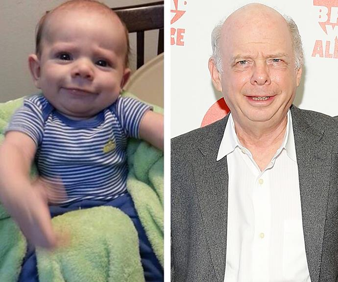 Same hairdo! Actor Wallace Shawn's long-lost relative shares his trustworthy grin.